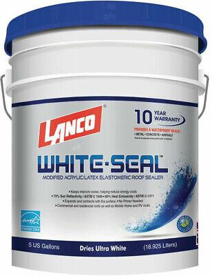 White Roof Seal Elastomeric Rubberized Sealer Waterproof Sealant Coating 5 Gal.