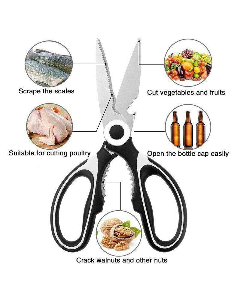 Sale !Kitchen Scissors Shears Ultra Sharp Multi Purpose Stai