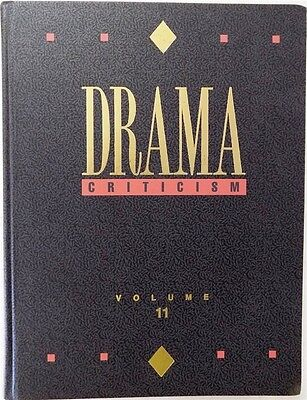 Drama Criticism: Drama Criticism Vol. 11 by Thomson Gale Staff 1999 Hardcover