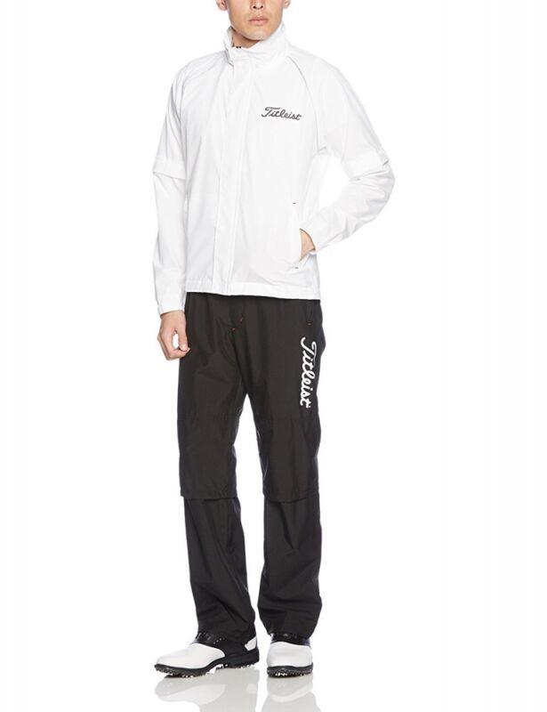 NEW Titleist Apparel stretch Rain suit wear TSMR1592 Size M-3L White from Japan