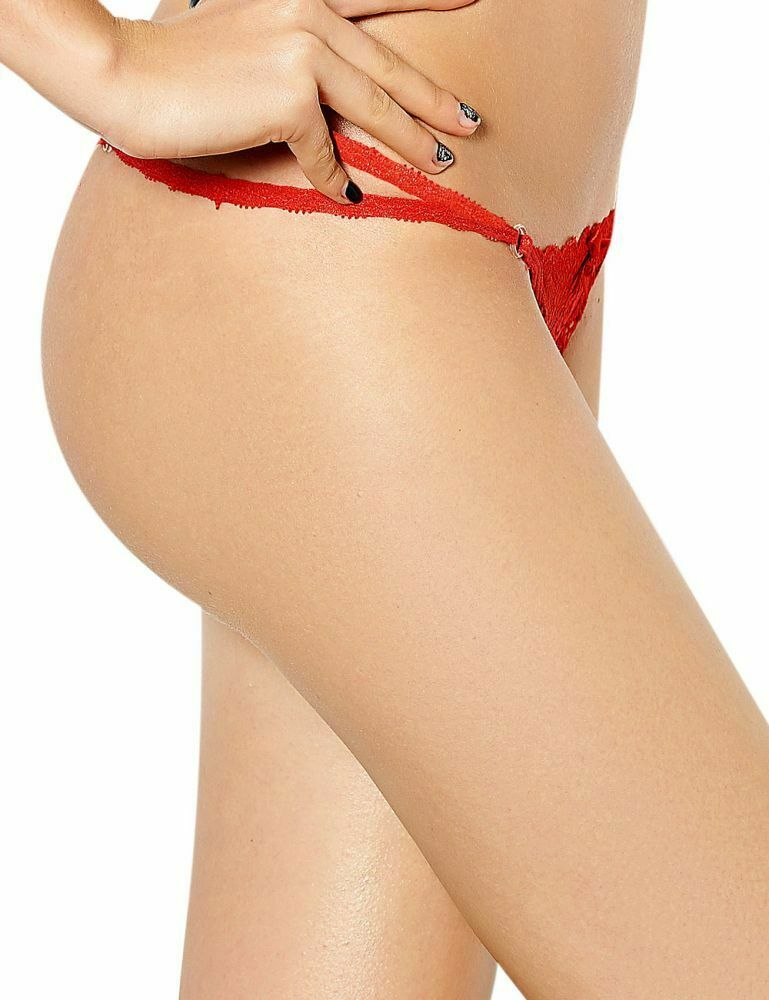 Sexy Damen Micro Spitze String Tanga mit transparenten Ringen Gogo 4 Farben
