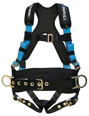 Tractel X-large Xl Belted Fall Protection Harness Tongue Buckle Legs Padding