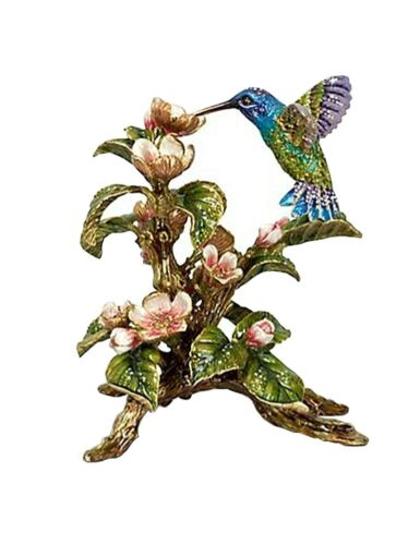 JAY STRONGWATER DAWN HUMMINGBIRD TABLEAU FIGURINE SWAROVSKI NEW MADE IN USA