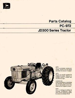 John Deere Jd 300 Jd300 Series Tractor Parts Manual Catalog
