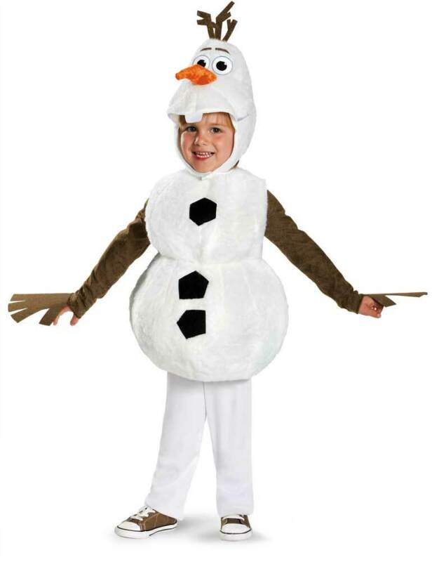 Licensed Disney Frozen Olaf Deluxe Plush Snowman Toddler Infant Boy Costume