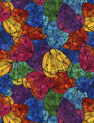 Fabric Butterfly Wings Packed Full On Cotton By The 1/4 Yard BIN - $0.99