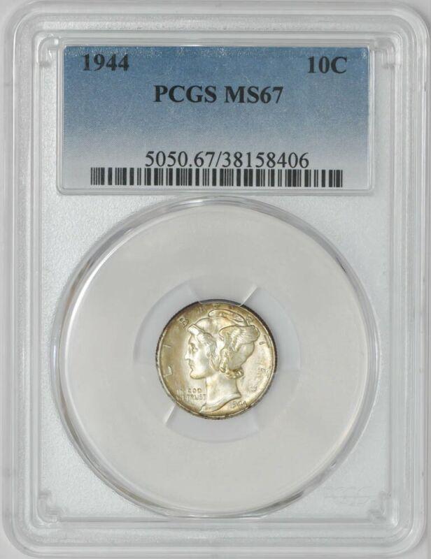 1944 Mercury Dime 10c MS67 PCGS 942189-15