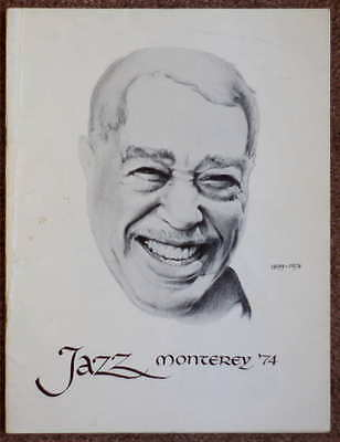 1974 17th Annual Monterey Jazz Festival Program - Great Vintage Condition