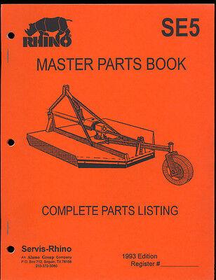 1993 Rhino Se5 Mower Master Parts Manual