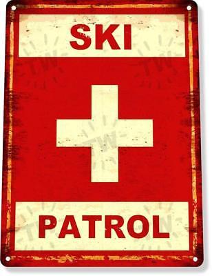 Ski Lodge Decor (Ski Patrol Ski Slopes Lift Lodge Resort Expert Metal Decor Sign)