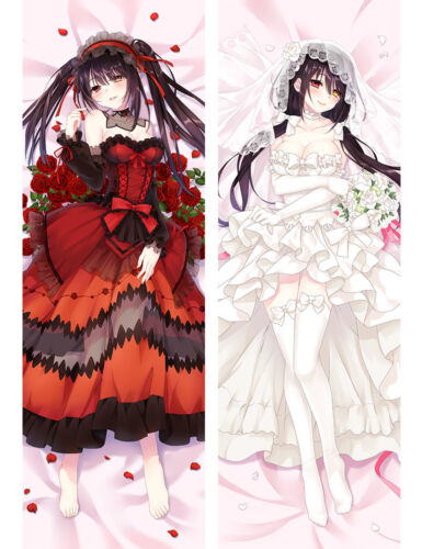 Date A Live Dakimakura Kurumi Tokisaki Anime Body Pillow Case Cover 150*50cm