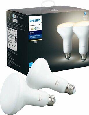 Philips Hue White BR30 Bluetooth Smart LED Bulb (2-Pack) - White