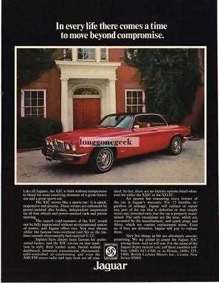 1976 Jaguar XJC Red 2-door Coupe Vintage Ad