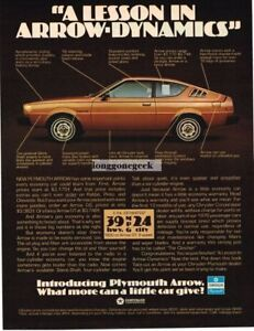 1976 Plymouth Arrow 200 Brown Vtg Print Ad