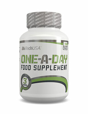 BIOTECH USA ONE A DAY 100 Tabs COMPLETE MULTIVITAMIN FORMULA VITAMINS MINERAL Multivitamin 100 Tabs
