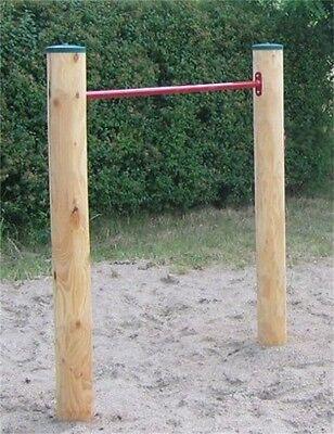 LoggyLand Reck Turnstange Reckstange Turnreck Lärche Holz Ø 12 cm massiv