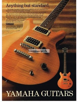1989 YAMAHA Image Standard Electric Guitar Vintage Print Ad