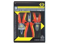 CK RedLine 3 Piece VDE Insulated Plier Set T3805