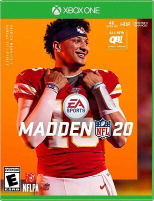 Madden NFL 20 -- Standard Edition (Microsoft Xbox One, 2019) BRAND NEW