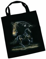 Designer Borsa In Tessuto Con Cavallo Disegnato Collection Boetzel Sanguecaldo - collection b - ebay.it