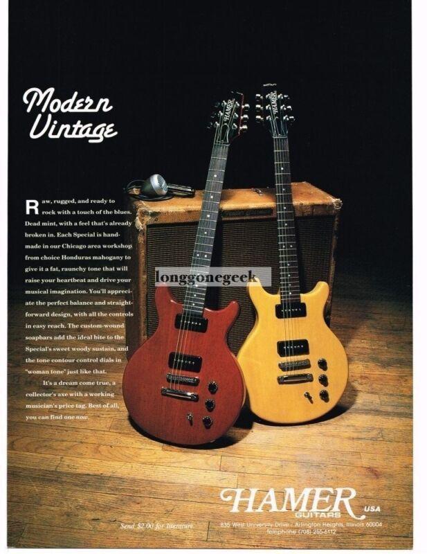 1993 Hamer Electric Guitars Vintage Print Ad