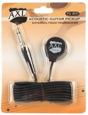 """AXL PG-800 Acoustic Guitar Pickup External Piezo Transducer with 9 ft Cable 1/4"""""""