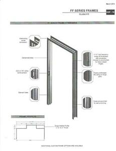 fire rated knock down frames on 7 metal frame doors