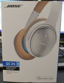 Bose QC25 Noise Cancelling Headphones in White