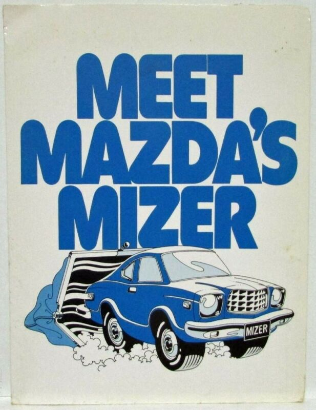 1976 Mazda Mizer Press Kit