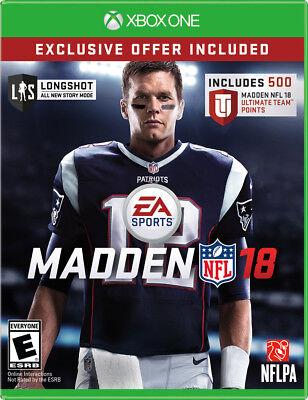 Madden Nfl 18  Microsoft Xbox One  2017    Limited Edition   500 Bonus Pts