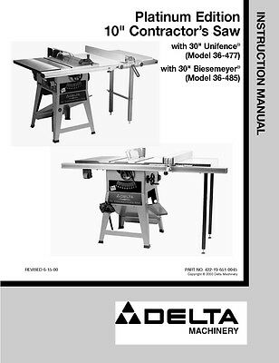 Strange Delta 36 477 36 485 Platinum Edition 10 Contractors Saw Ibusinesslaw Wood Chair Design Ideas Ibusinesslaworg