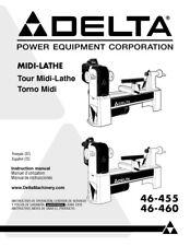 Delta 46-455 46-460 Midi-Lathe Owners Instruction Manual ...