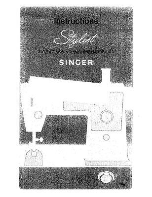 SINGER SEWING MACHINE OWNERS MANUAL MODEL 40 REPRINT Amazing Singer Sewing Machine Model 7422 Manual