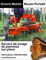 Transformation du bois : scierie portative - Laurentides