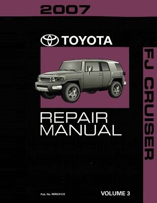 2007 Toyota FJ Cruiser Shop Service Repair Manual Volume 3 Only