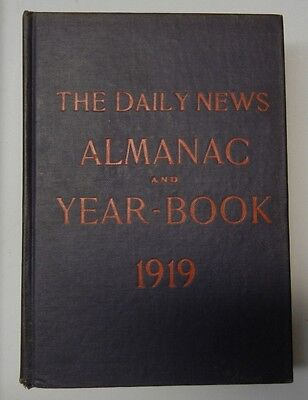 The Chicago Daily News Almanac   Year Book 1919   Ww1 Era Vintage Reference Book