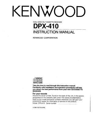 KENWOOD CA-R6 Car CD Remote Control DPX410 KDC4007-09 KDC6010 KCAR6A KCAR6