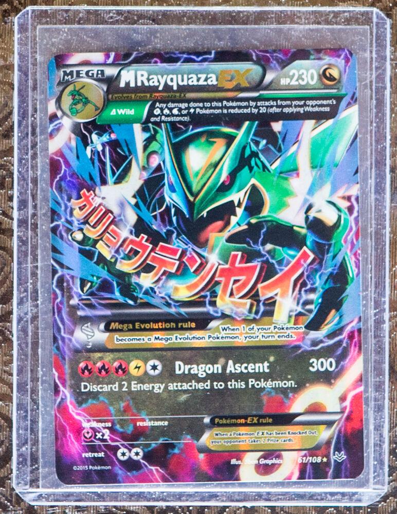Pokemon Mega Rayquaza EX 61/108 - XY Roaring Skies - Ultra ...
