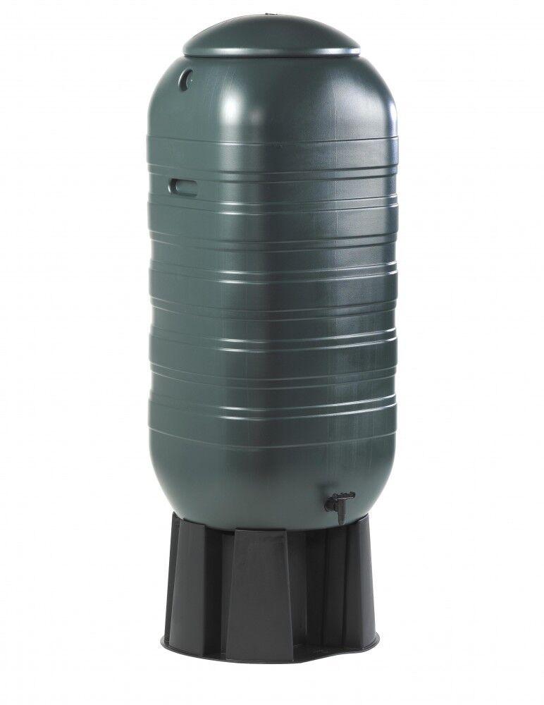 Regentonne Wasserfass Regenfass Wasserspeicher mit Stand Befüllsystem Hahn 250 L