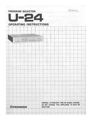 Pioneer U-24 Receiver Owners Manual