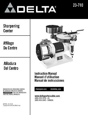 Delta 23-710 Sharpening Center Instruction Manual