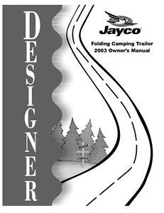 Jayco Pop Up Camper Parts Manual