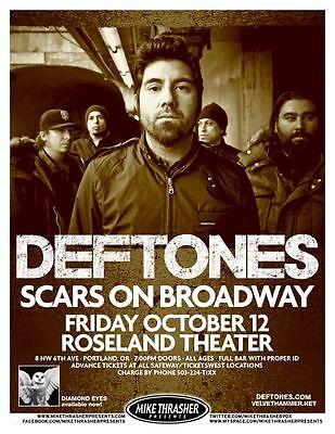 DEFTONES 2012 Gig POSTER Portland Oregon Concert