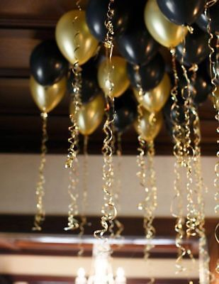 Black & Gold Latex Balloons for helium or air filled ballons for all occasions ](Helium Filled Ballons)