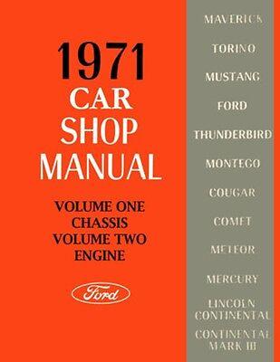 1971 Ford Lincoln Mercury Shop Service Repair Manual Book Engine Drivetrain OEM