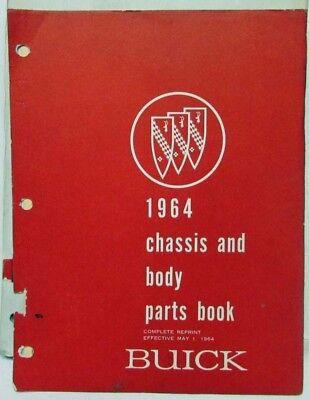 1964 Buick Dealer Chassis & Body Parts Book Catalog Skylark Wildcat Electra