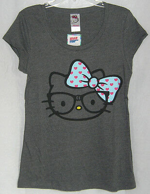 Hello Kitty NERDY TEE SCOOP NECK FREE USA SHIPPING XSMALL NWT  ()