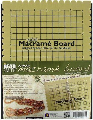 Beadsmith Mini Macrame Board for Micro Macrame 6 Inches x 9 Inches