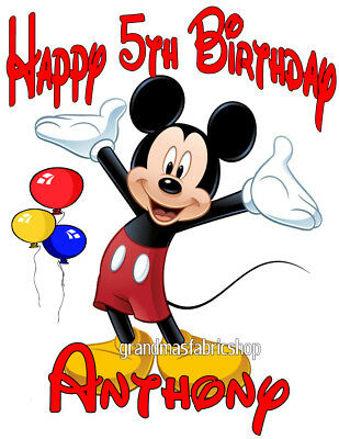 NEW Personalized Custom Mickey Mouse Birthday T Shirt Party Add Name and Size - Mickey Mouse Custom