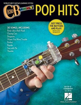 Guitar Chord Songbook Book - ChordBuddy Guitar Method Pop Hits Songbook - Chord Buddy Book NEW 000274974